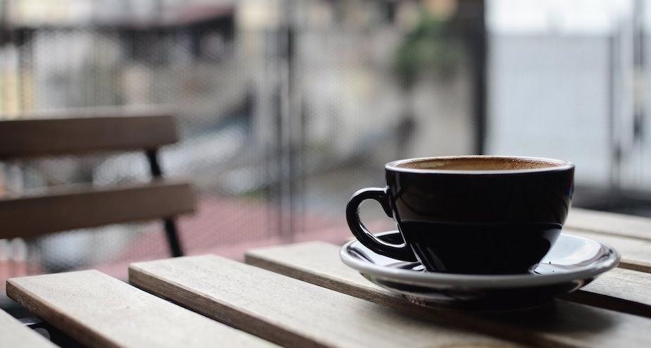 トレーニング後のコーヒー