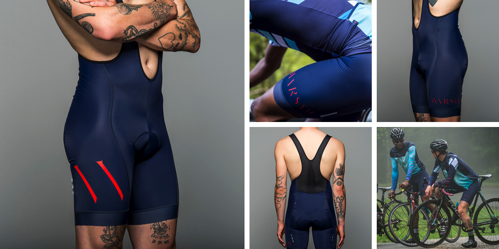 WARSAW RACE NAVY BIB SHORT