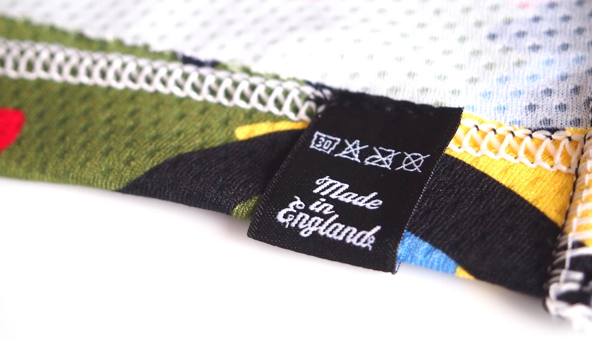 camo jersey タグ裏洗濯表示