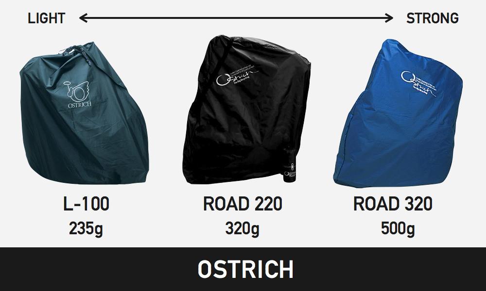 オーストリッチ輪行袋の種類