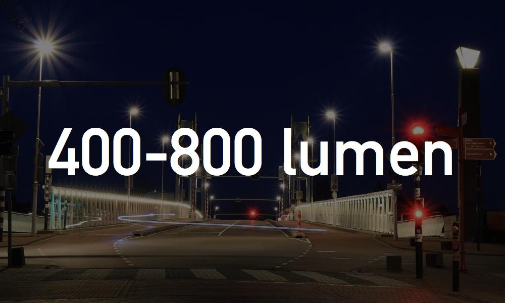 400-800ルーメン