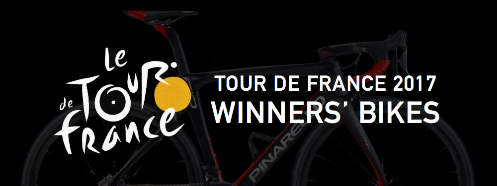 tour de france 2017 winners' bikes