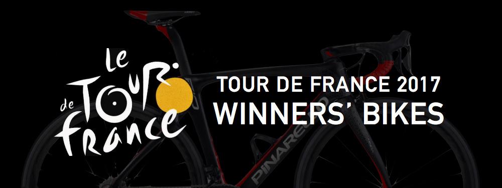 tour de france 2017 winners' bikes