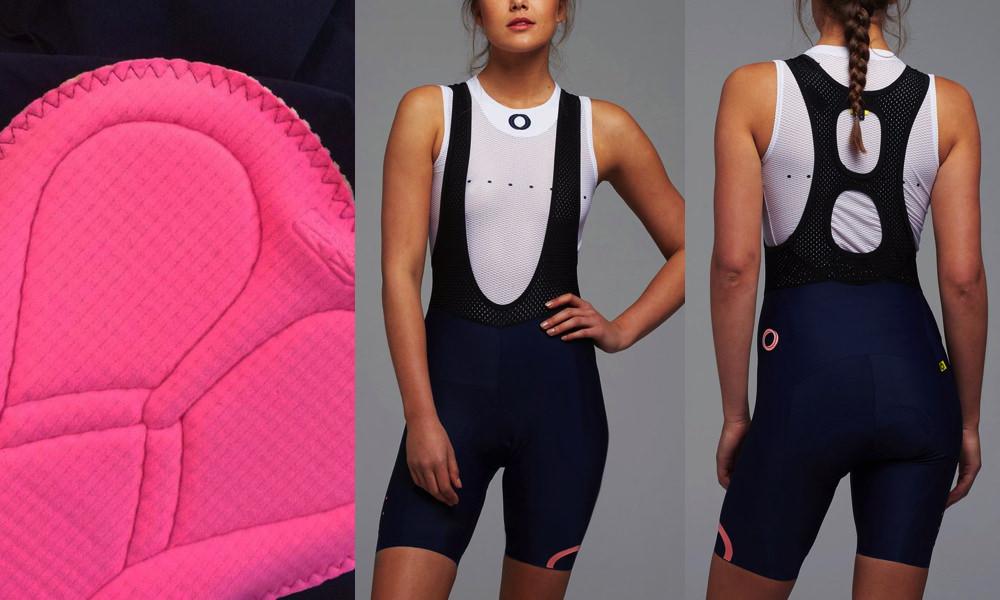 pedla linear collection women's bib shorts