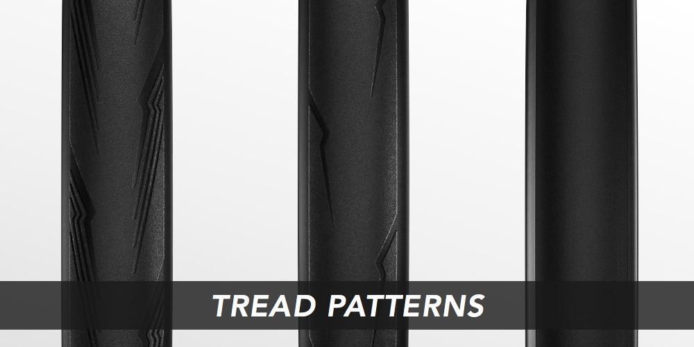 ロード用タイヤのトレッドパターン例