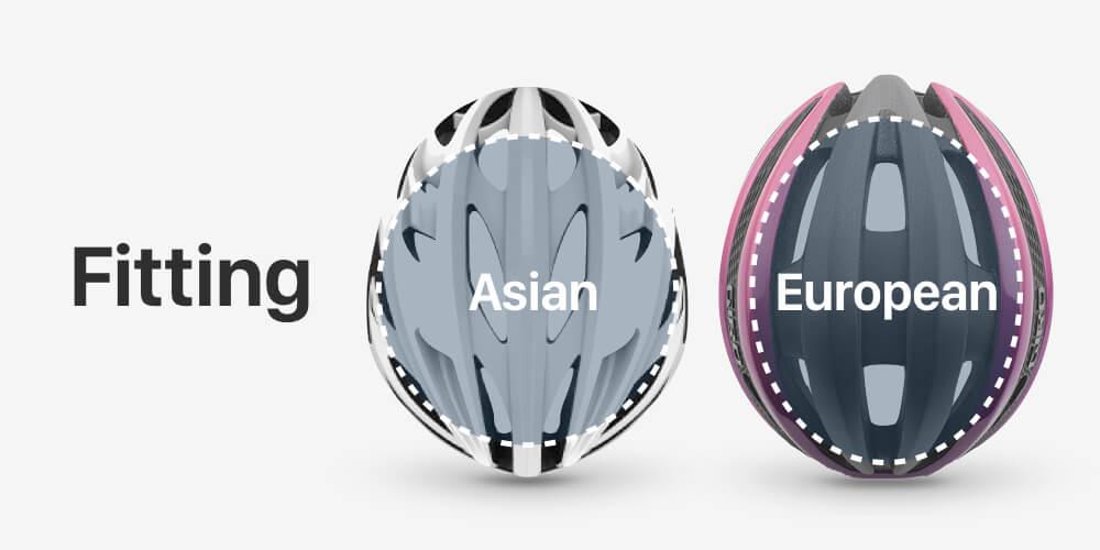 ロードバイクヘルメット フィッティング