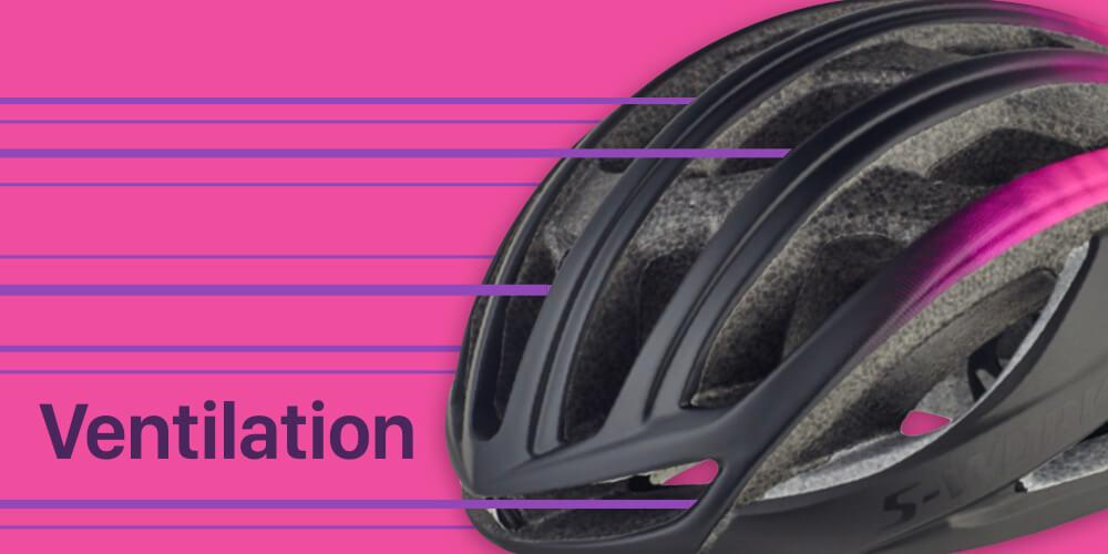 ロードバイクヘルメット ベンチレーション