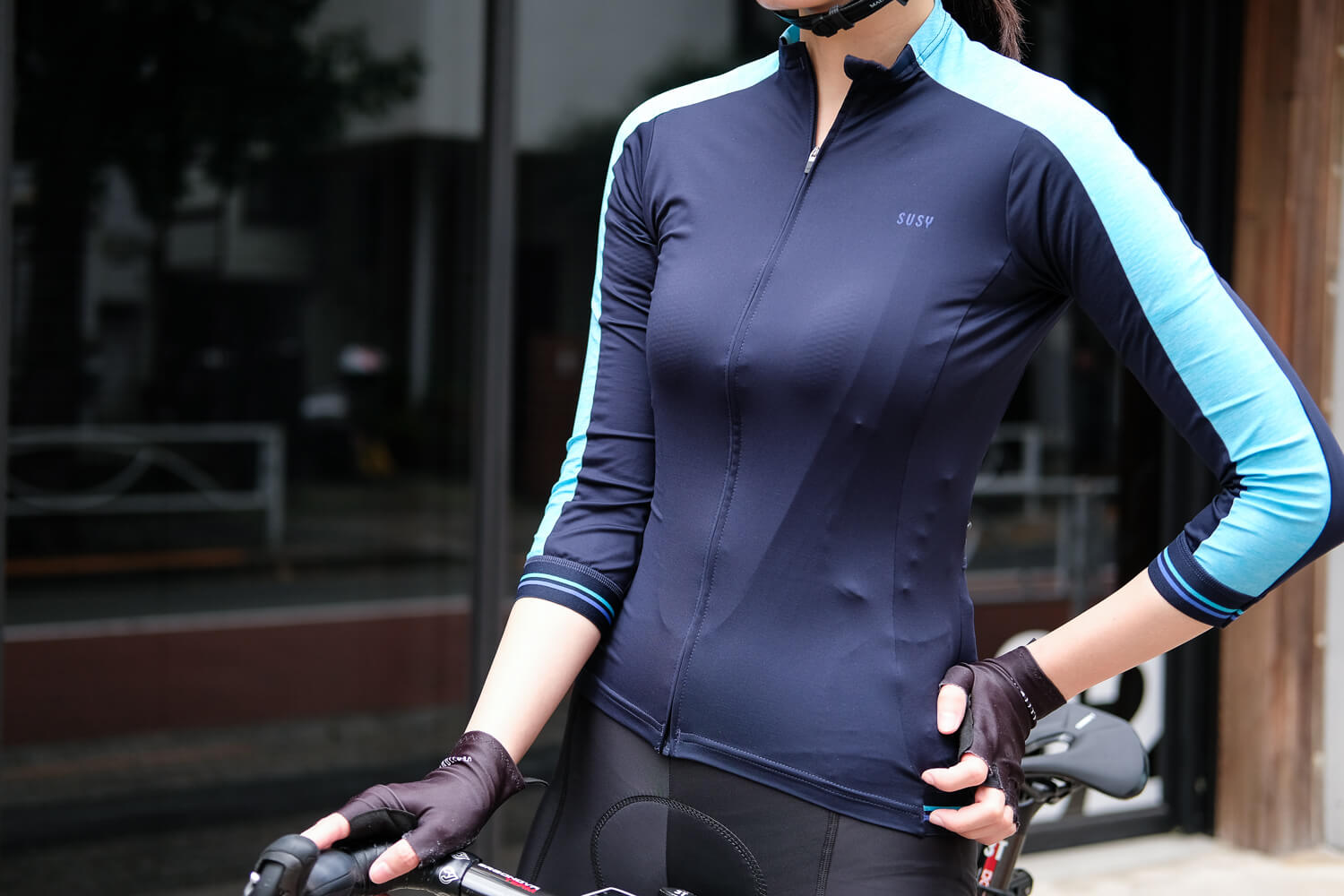 Susy jersey navy sky-blue front