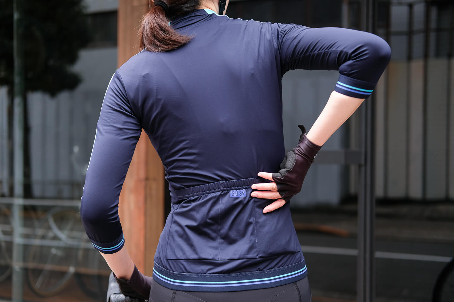 Susy jersey navy sky-blue back