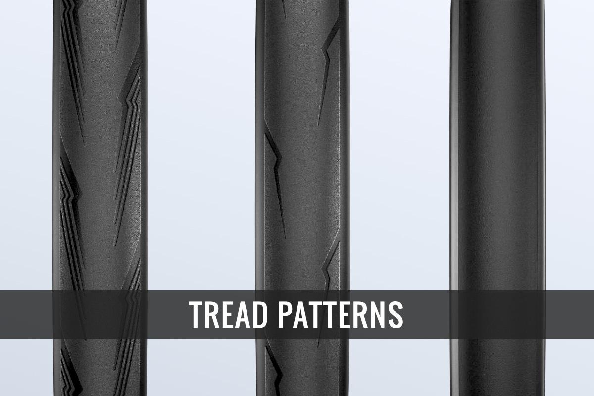 ロードタイヤのトレッドパターン