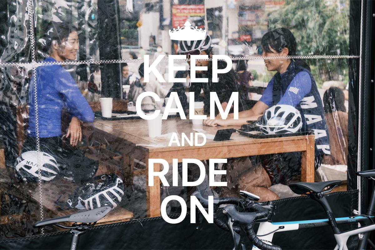 ロードバイク×カフェ